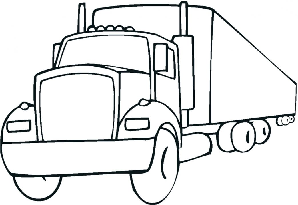 1043x718 Lego Semi Truck Coloring Pages Breathtaking Page Free Printable