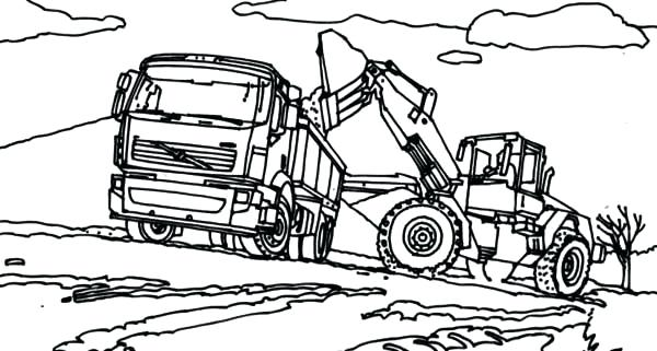 600x321 This Is Tractor Coloring Pages Pictures Semi Truck With Tractor