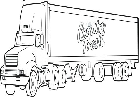 476x333 Coloring Pages Of Semi Trucks Drawing Semi Truck Coloring Page
