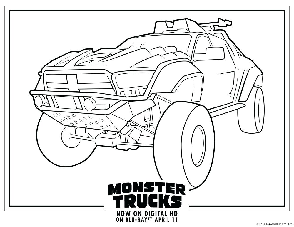 1000x773 Coloring Pages Truck Monster Truck Coloring Pages Free Printable