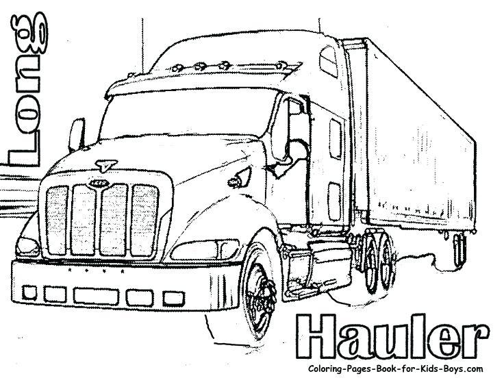 736x568 Elegant Coloring Pages Of Semi Trucks Crayola Photo