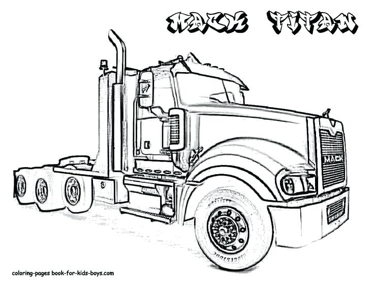 736x569 18 Wheeler Coloring Pages