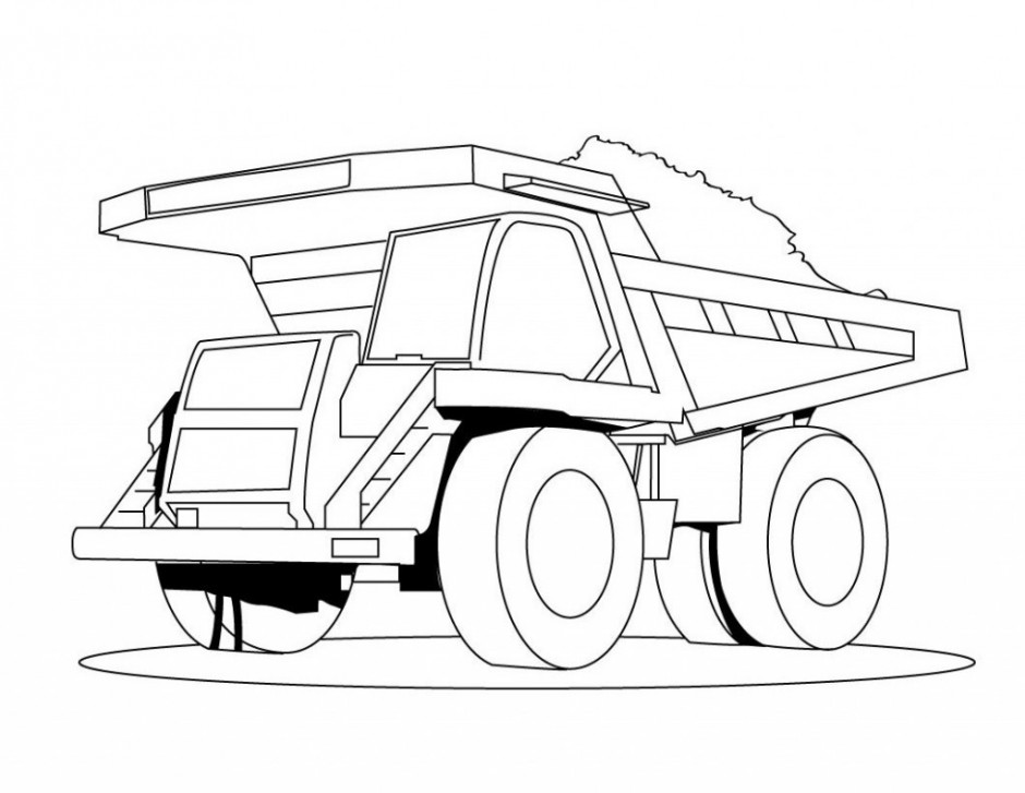 940x727 Semi Truck Coloring Page 327779