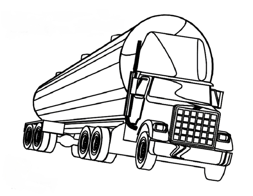 840x650 Semi Truck Coloring Pages Page Image Clipart Images