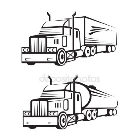 450x450 Semi Truck Stock Vectors, Royalty Free Semi Truck Illustrations