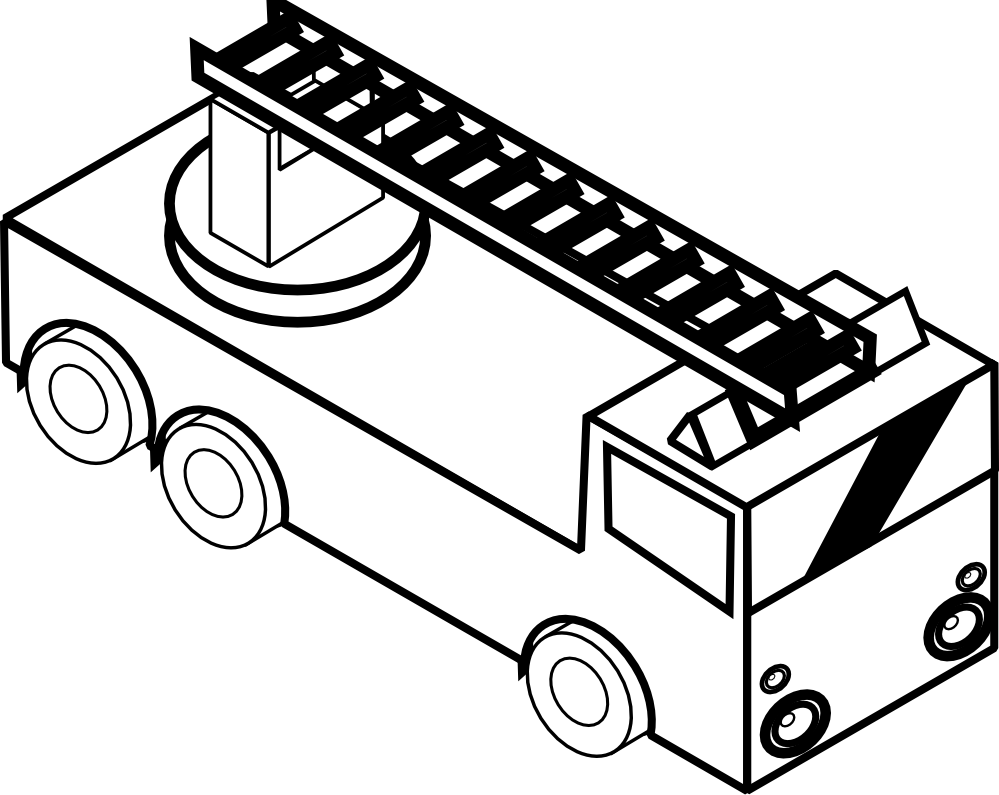 999x795 Truck Clipart Line Drawing