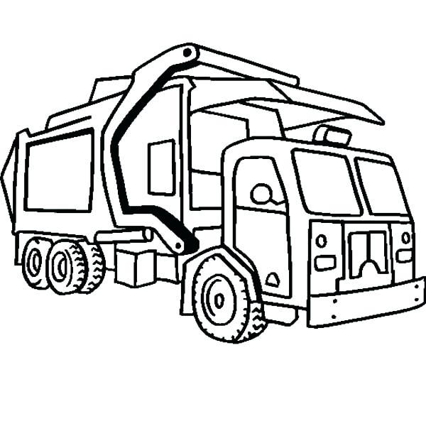 Semi Truck Line Drawing At Getdrawings Com
