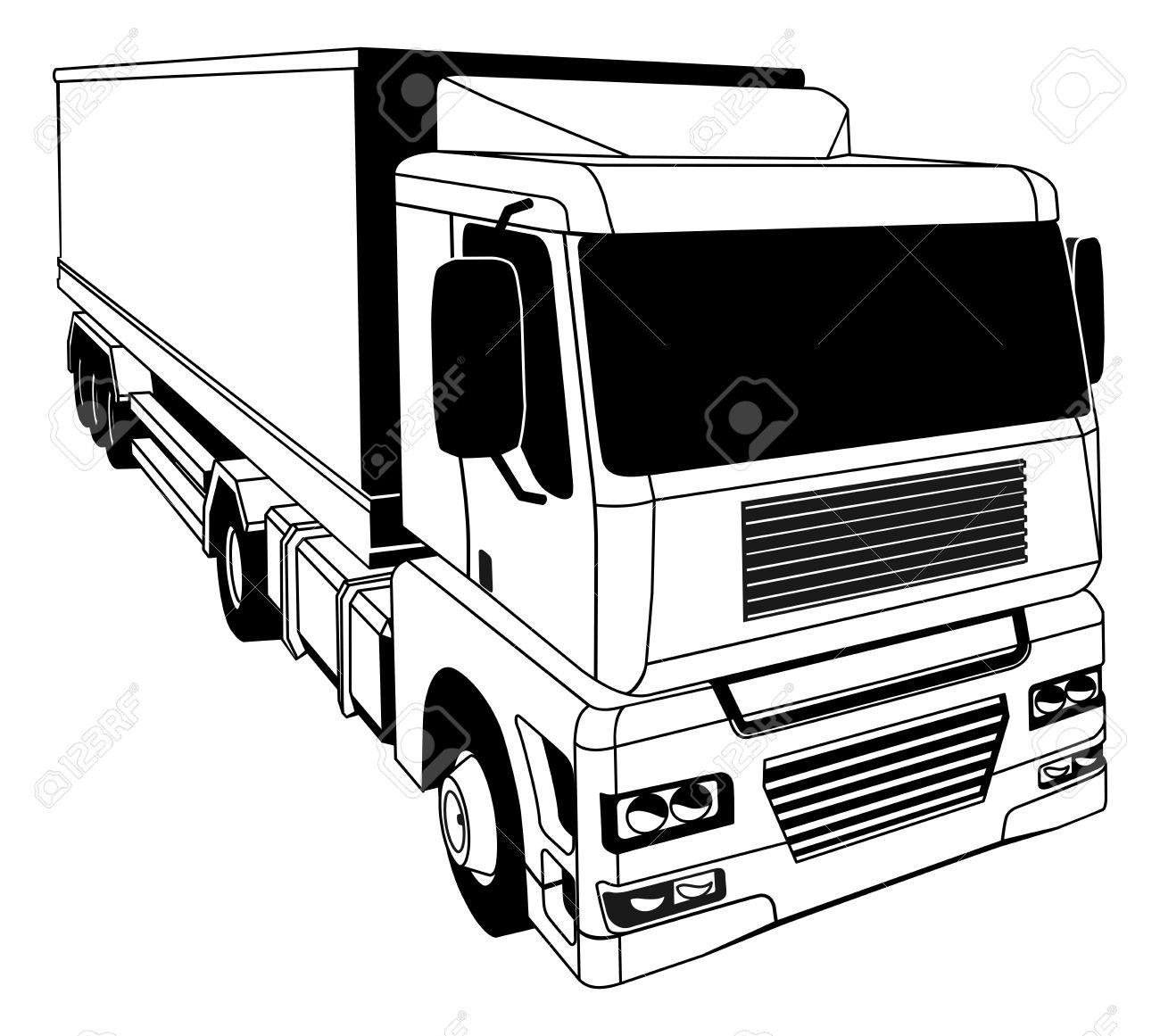 1300x1161 Clip Art Semi Truck Images Clip Art