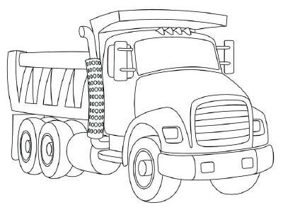 400x297 Drawn Truck Simple