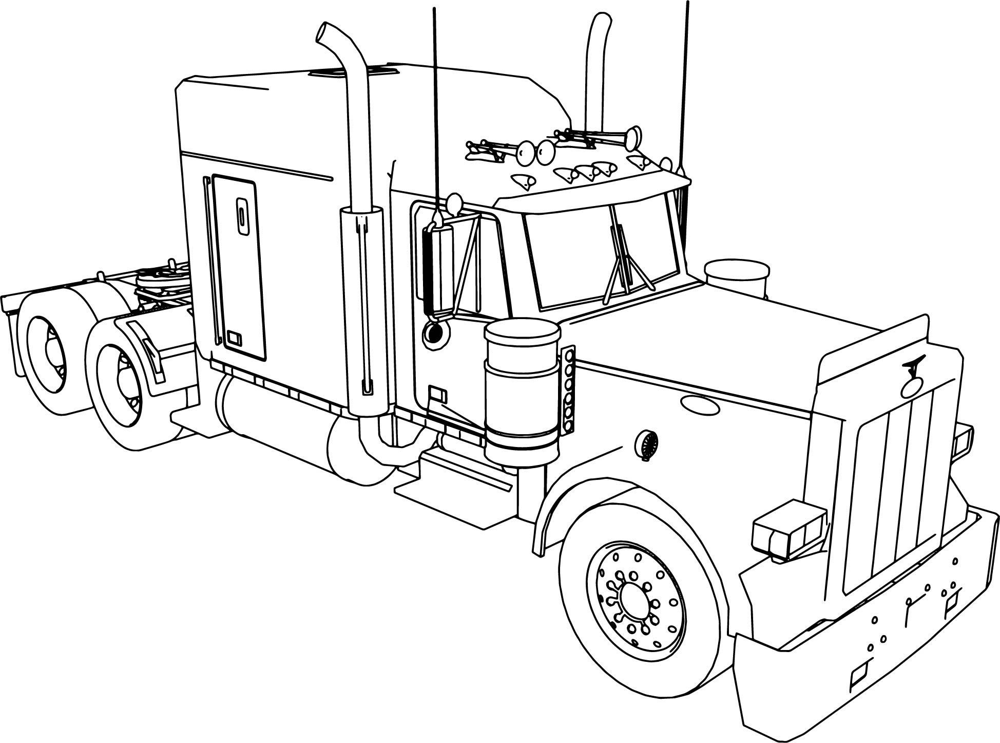 Semi Truck Outline Drawing at GetDrawings | Free download