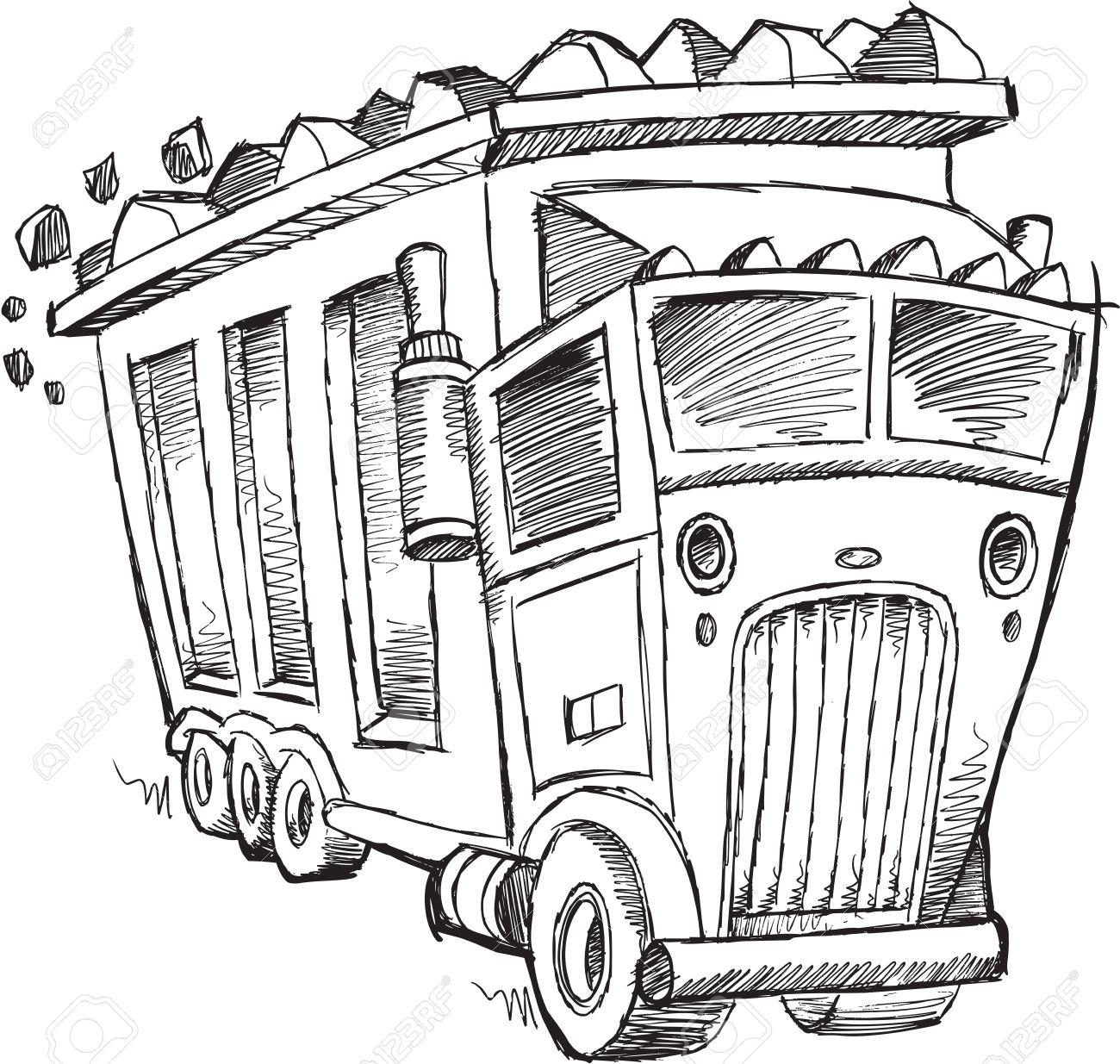 1300x1235 Truck Sketch Drawing