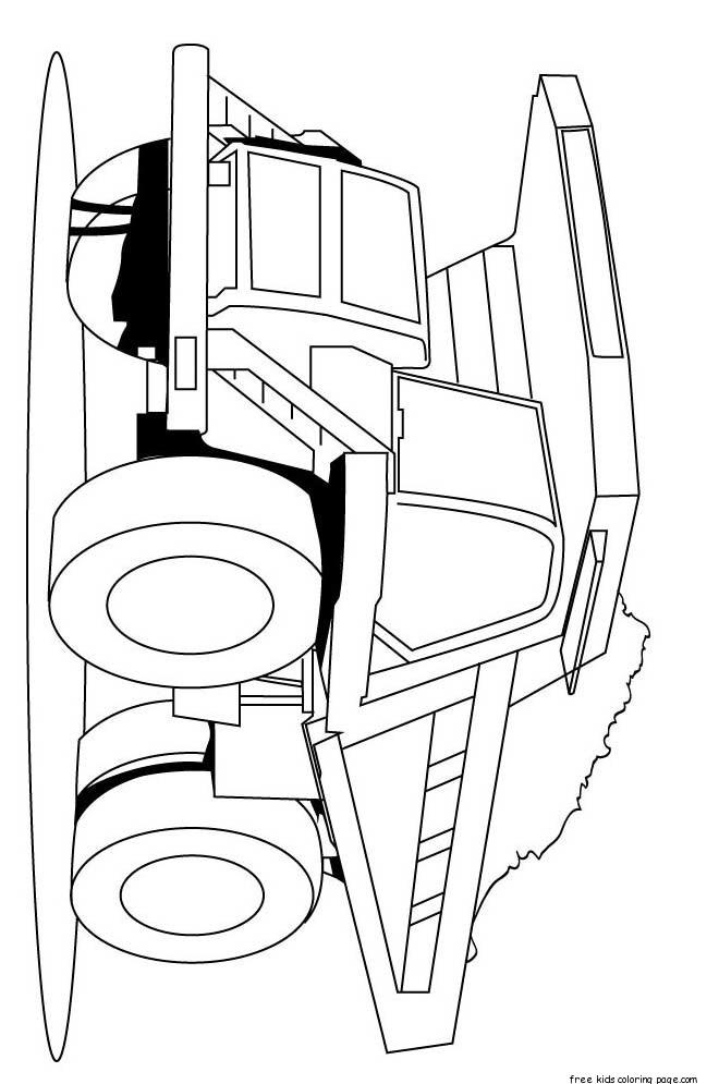 Semi Trucks Drawing At Getdrawings Com