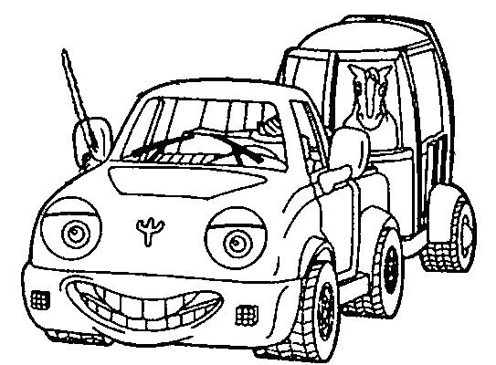 543x400 Truck And Trailer Coloring Pages Horse Trailer And Pickup Truck