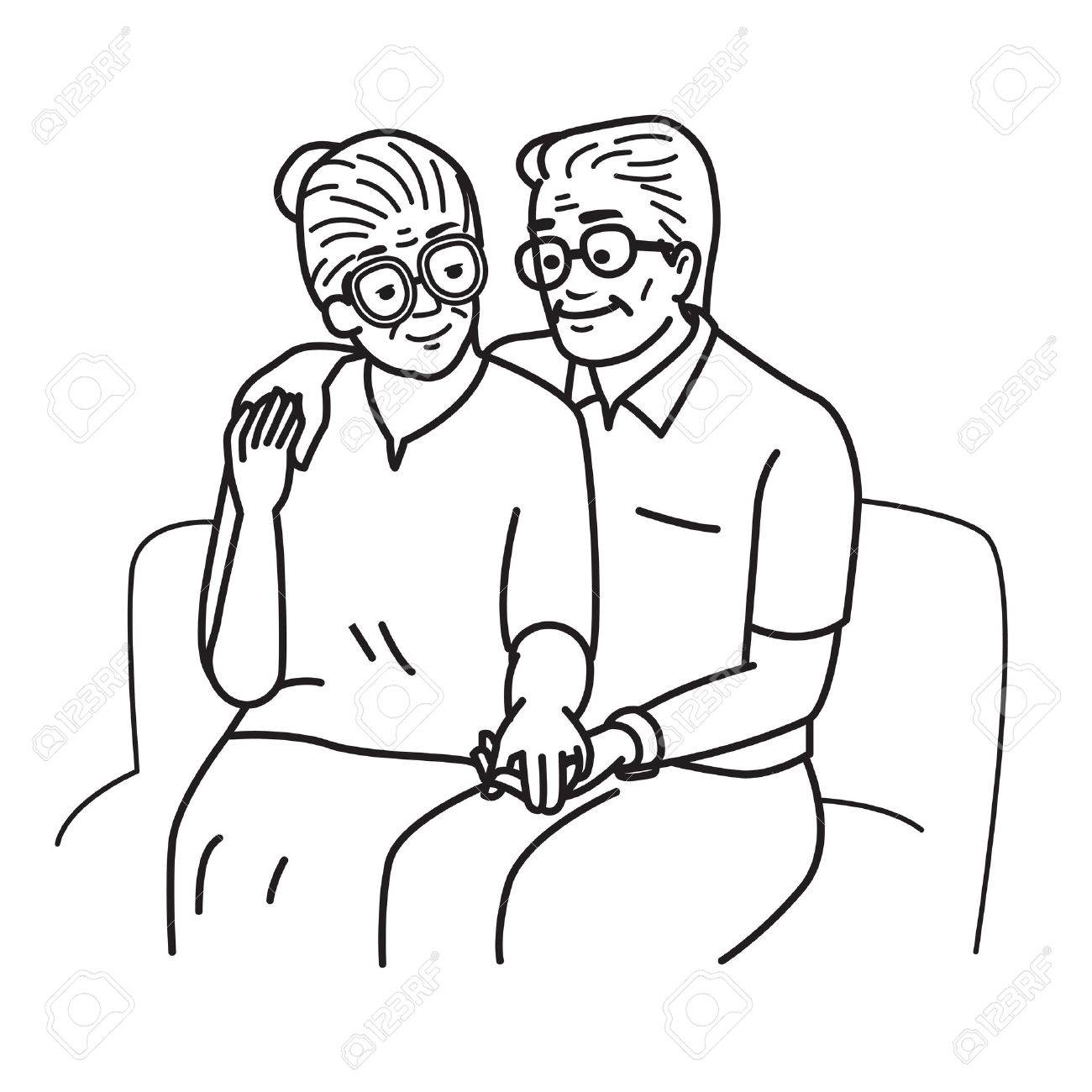 1300x1300 Smiling And Happy Romantic Senior Couple Lovers, Holding Hands