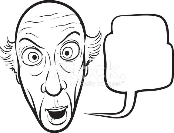 574x439 Whiteboard Drawing Surprised Senior Man Stock Vector