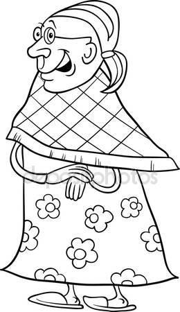 260x450 Senior Grandmother Cartoon Illustration Stock Vector Izakowski