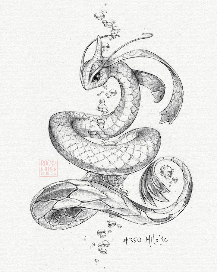 720x900 A Picture Of A Realistic Milotic That I Spent A Few Nights