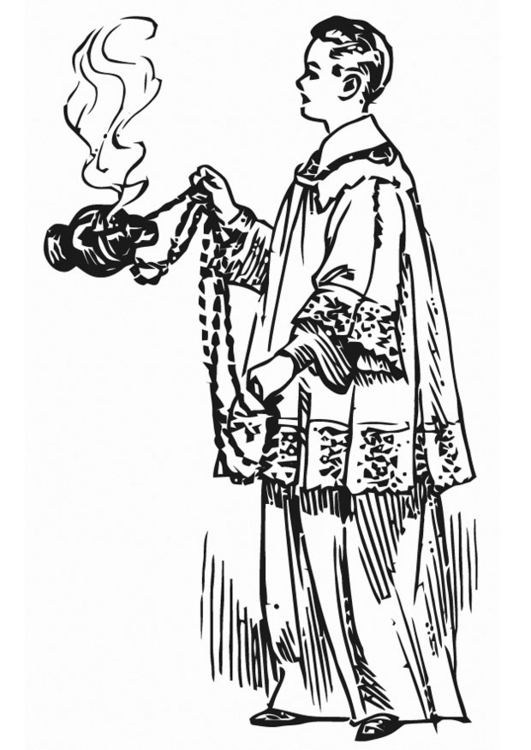 531x750 Coloring Page Altar Server