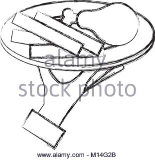 311x320 Hand Server With Thigh Chicken And French Fries Vector