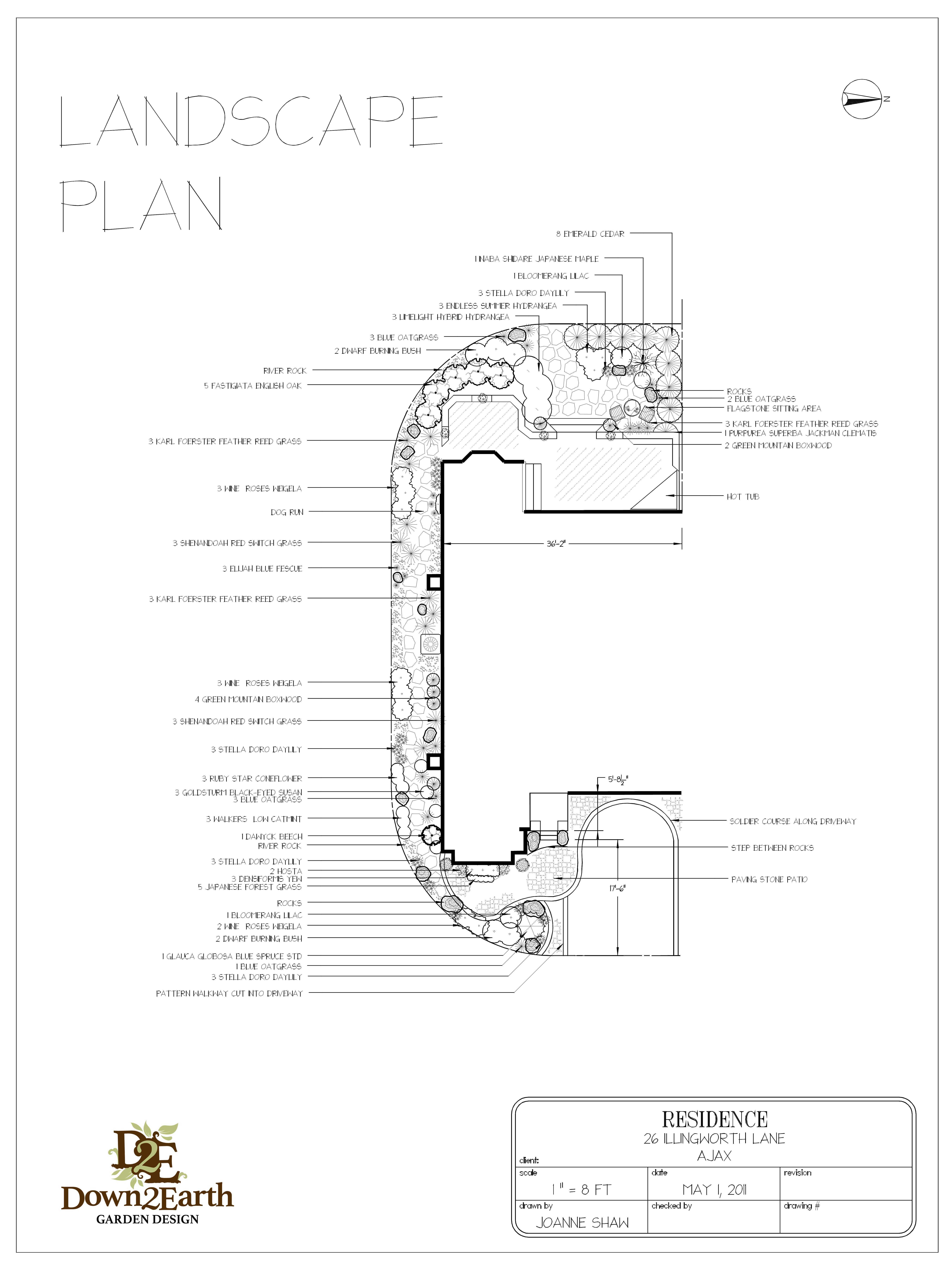 5400x7200 Landscape Design And Garden Design Services Serving Durham Region