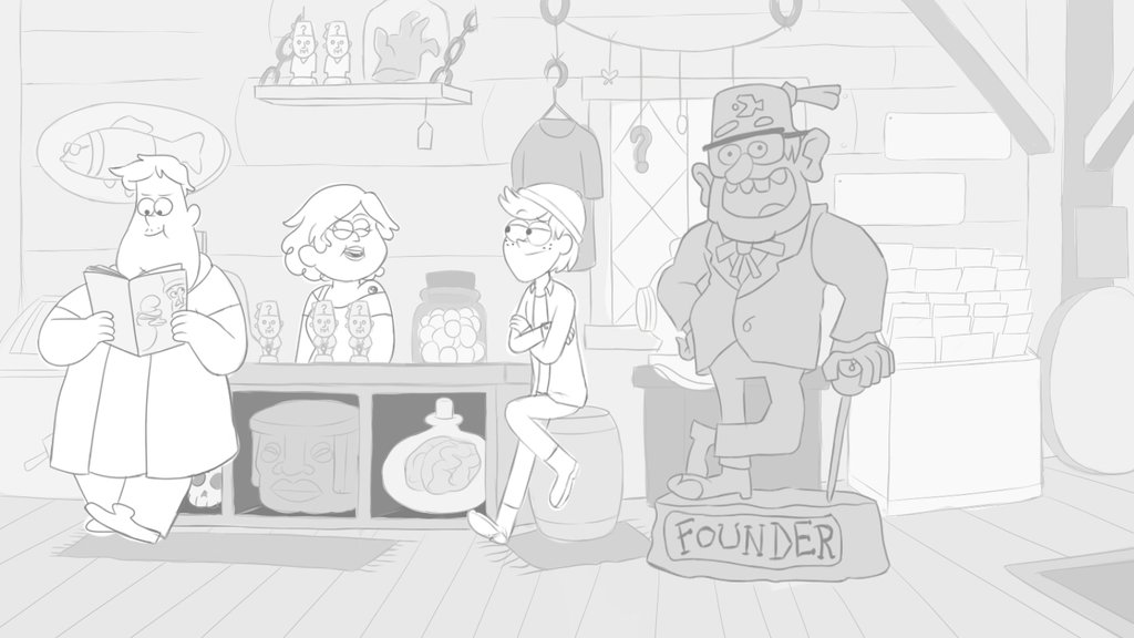 1024x576 Mystery Shack Gift Shop (Animatic Intro Part) By Turquoisegirl35