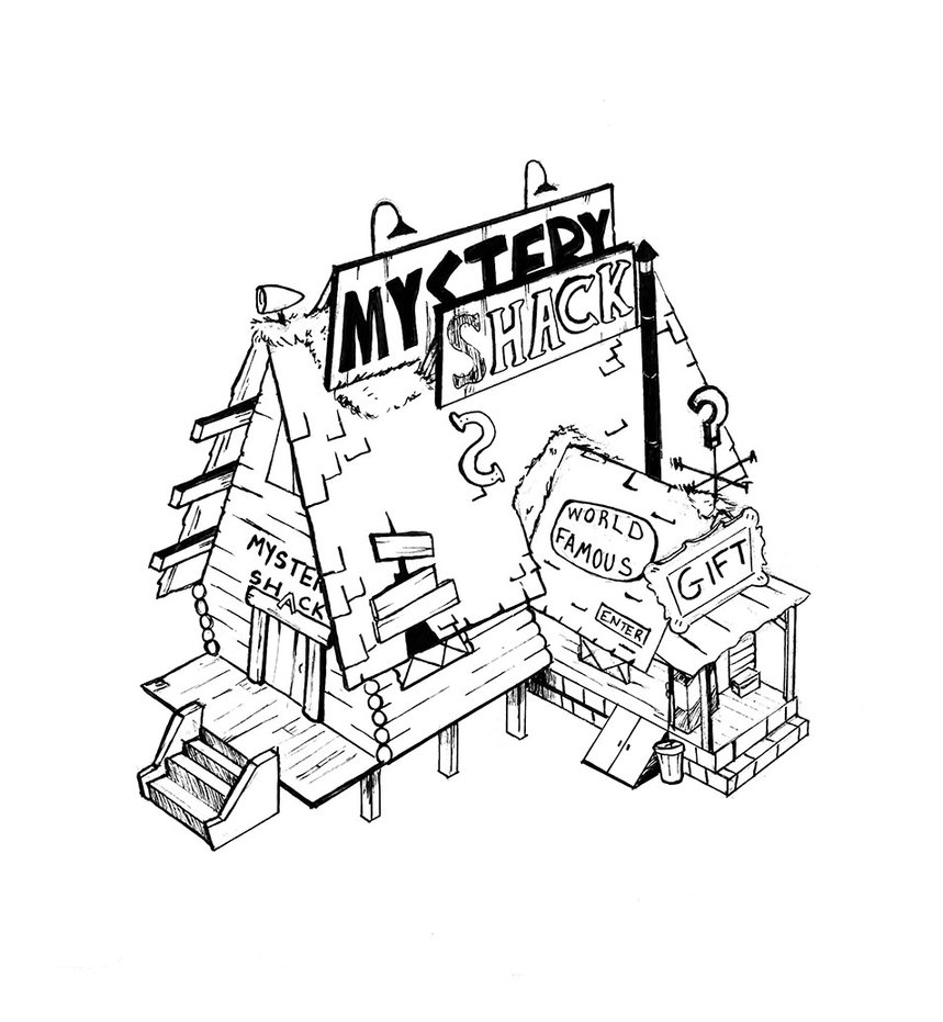 859x931 The Mystery Shack By Weeaboo Sensei