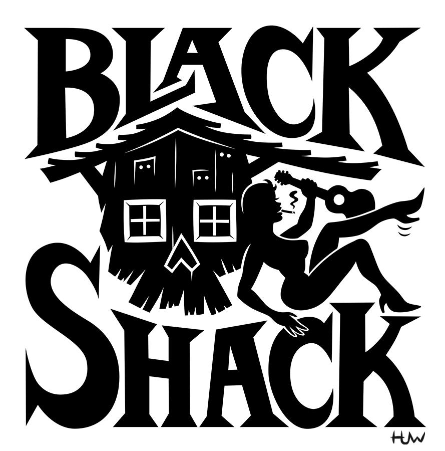 889x900 Black Shack Logo By Huwman