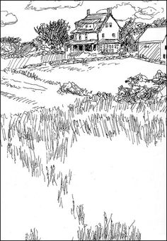 236x341 Country Side Art Pencil Shading Country Scenes To Paint