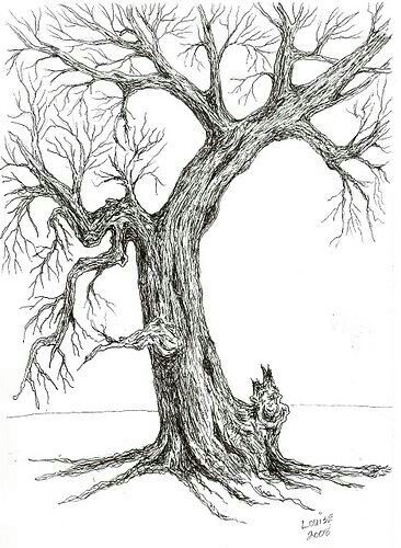 Shaded Tree Drawing