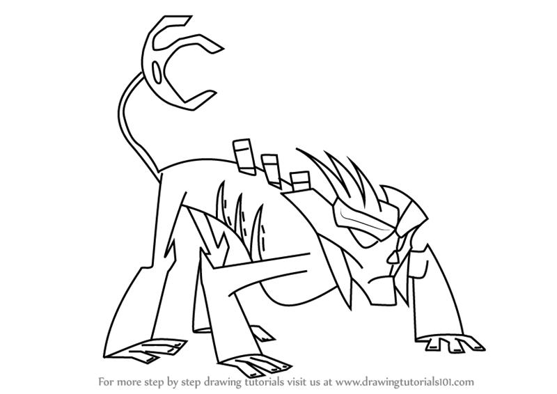 800x566 Learn How To Draw Shadow Clan From Slugterra (Slugterra) Step By