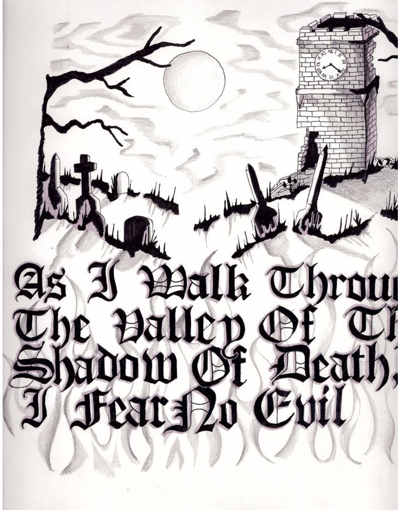 789x1011 Shadow Of Death Drawing By Siren757