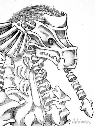 400x529 Shadow Of The Colossus Drawing By Declan Ahern