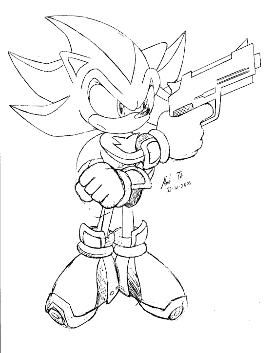 560x725 Another Shadow Gun Pic Pencil By Rapid The Hedgehog