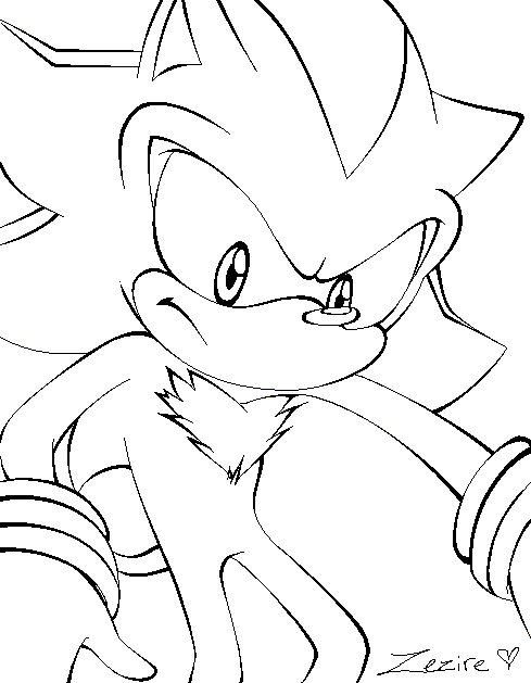 489x629 Shadow The Hedgehog Lineart By Zezire