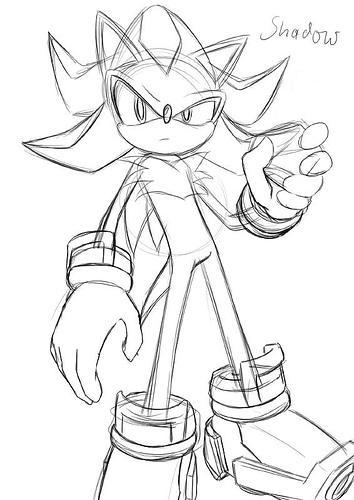 354x500 Shadow The Hedgehog Sketch By Rodnego3