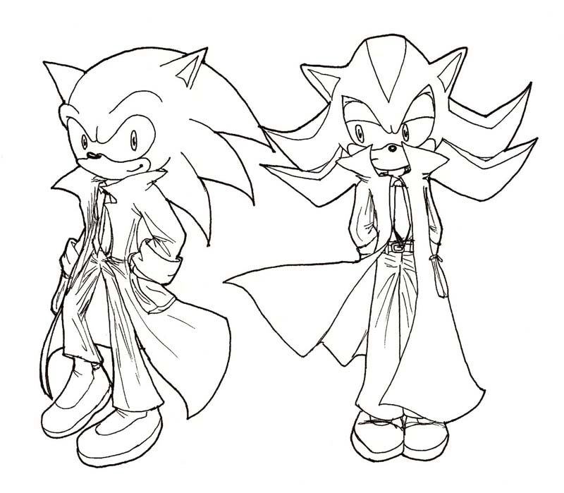 800x699 Sonic And Shadow In Overcoats By Inyuji