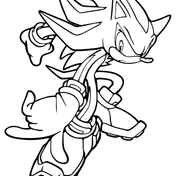 600x600 Lovely Shadow The Hedgehog Coloring Page 17 With Additional