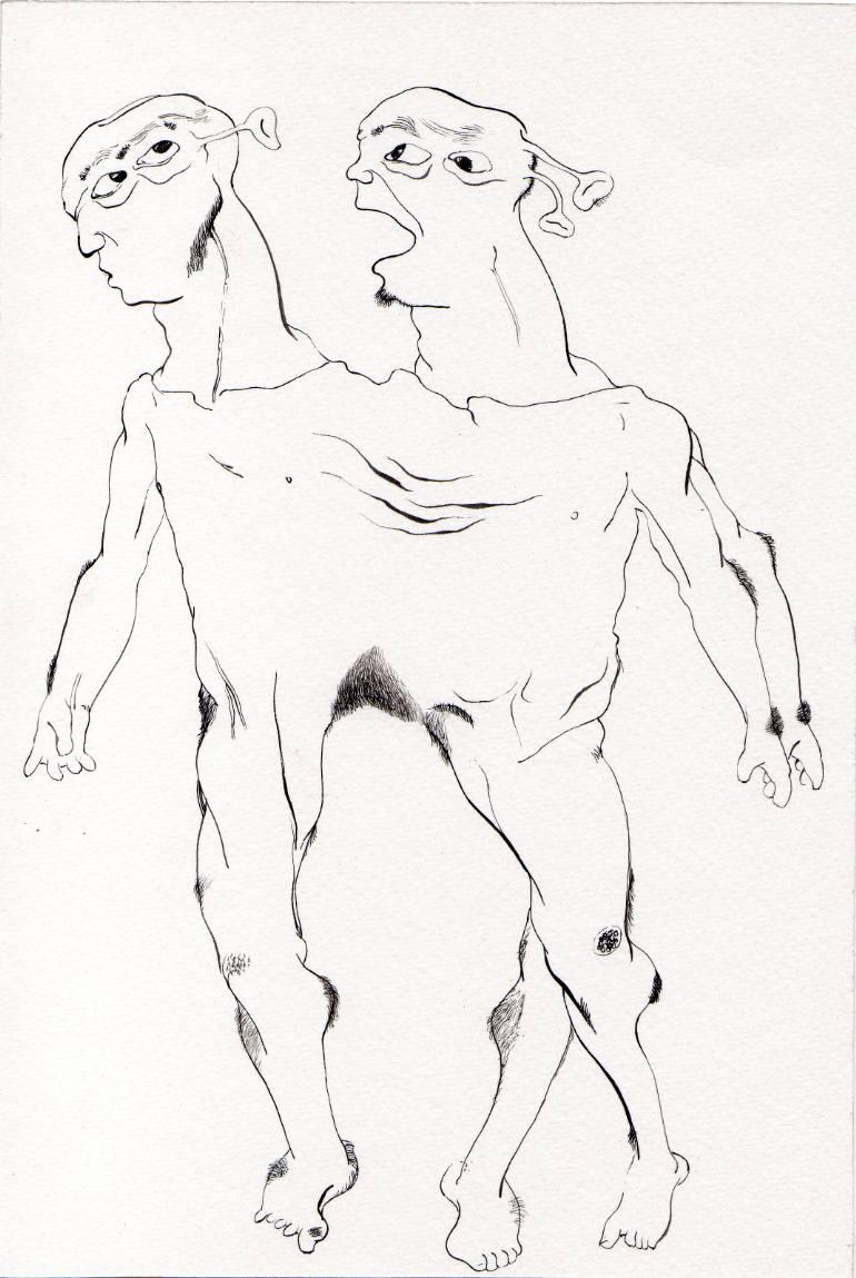 770x1149 Saatchi Art Burning Desire Shadows (Drawing 33) Drawing By Rahul
