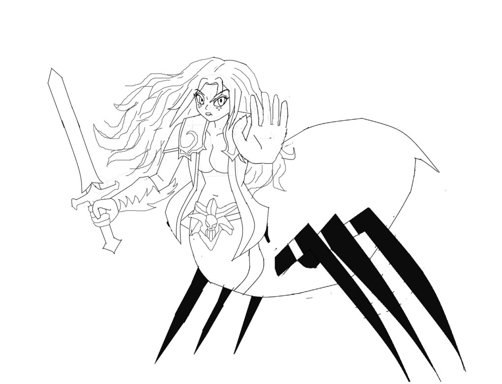 1021x782 Spider Queen Lord Of Shadows Sketch By Rramsey488
