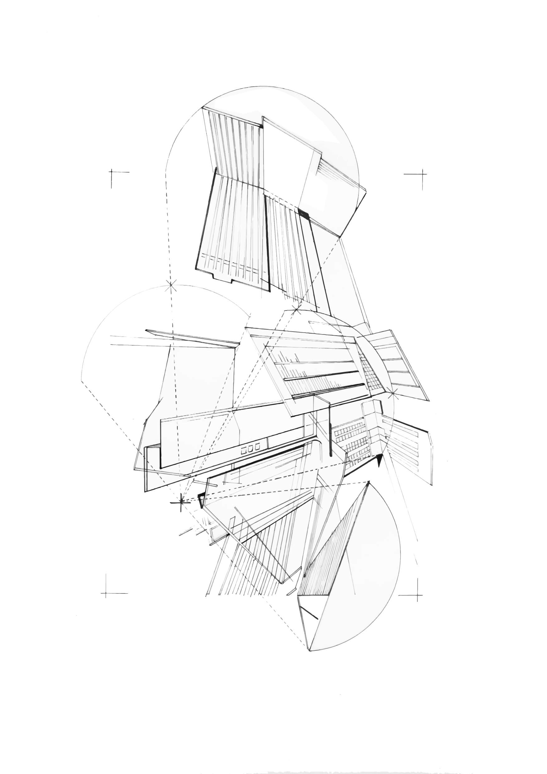1754x2481 Architectural Drawing, Representation Mapping Vacancy