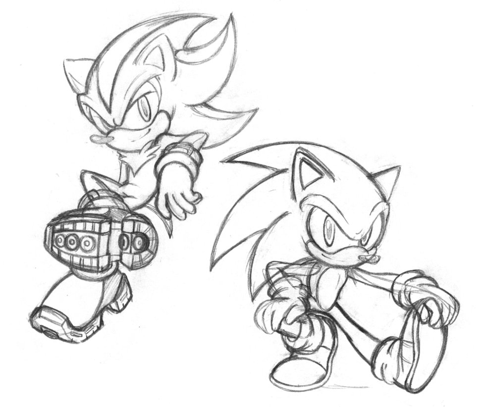 973x822 Sonic And Shadow Doodles By Chibi Jen Hen