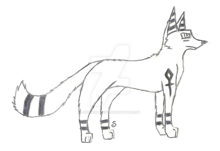 900x618 Egyptian Fox Scetch By Shadows Echo