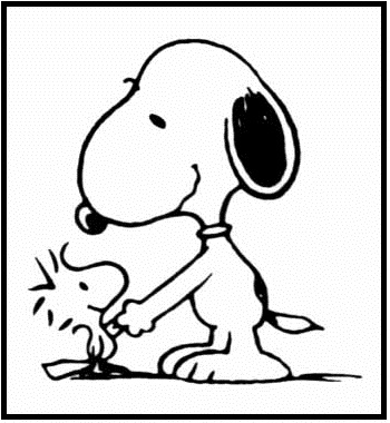 350x380 Snoopy Shaking Hands Coloring Picture For Kids Snoopy