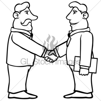 325x325 Business Men Shaking Hands Gl Stock Images