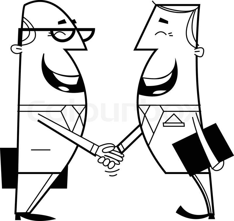 800x758 Businessmen Shaking Hands Stock Vector Colourbox