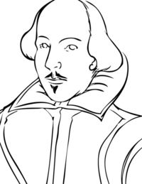 200x259 Posts Similar To Classic William Shakespeare Coloring Page