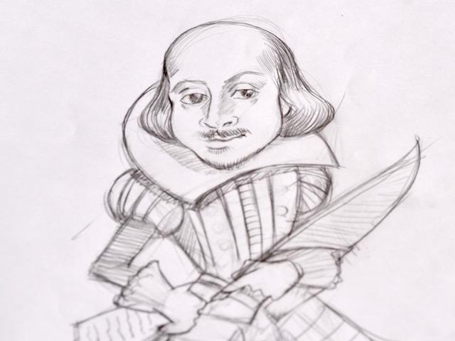 640x480 Shakespeare Sketch
