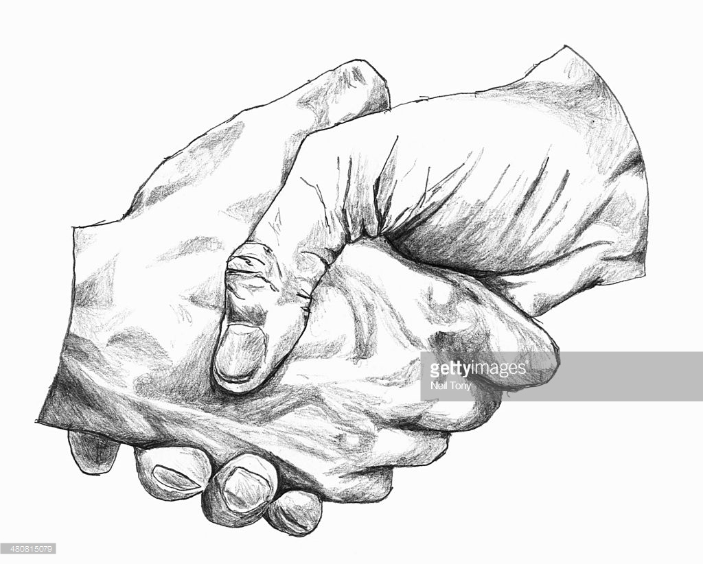 1024x822 Drawing Of Shaking Hands