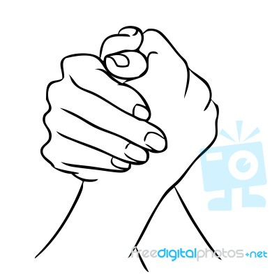 400x400 Join Hand Or Hand Shake Stock Image