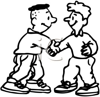 350x338 Young Men Shaking Hands In Greeting